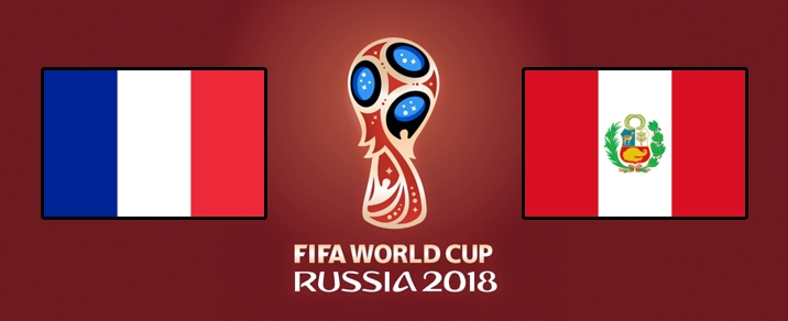 21/06/2018 France vs Peru World Cup 2018 - Group Stages