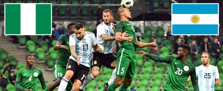 26/06/2018 Nigeria vs Argentina World Cup 2018 - Group Stages
