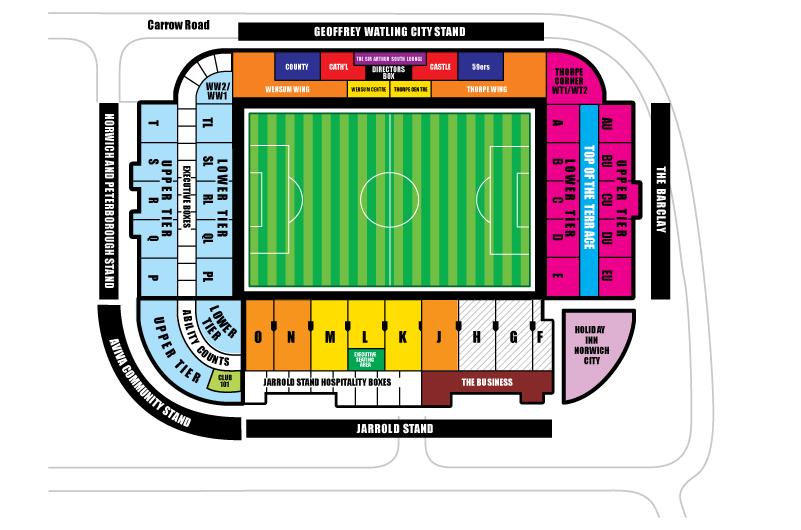 Carrow Road Stadium Seating Plan